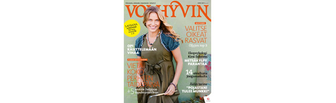 Seen in: Voi hyvin magazine