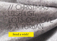 Christmas wish list: Lots of love & a turban